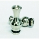 Large Vase Stainless Drip Tip - Silver