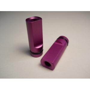 Purple Anodized Flat Drip Tip