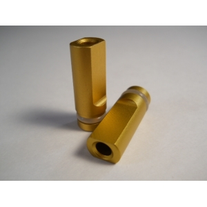 Gold Anodized Flat Drip Tip