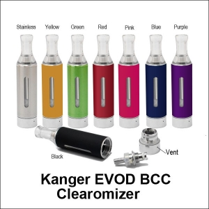 Kanger EVOD Bottom Coil Changeable Clearomizer - Red