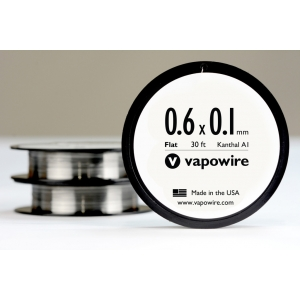 Vapowire Flat Kanthal Ribbon 0.6x0.1 30ft. Spool