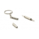 60mm Mini Stainless Steel Multifunction Screwdriver Keychain